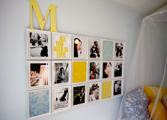 great mix.: Wall Art, Bedrooms Pictures Wall Collage, Photos Collage, Photos Wall, Scrapbook Paper, Photos Display, Wall Display, Wall Ideas, Kids Rooms