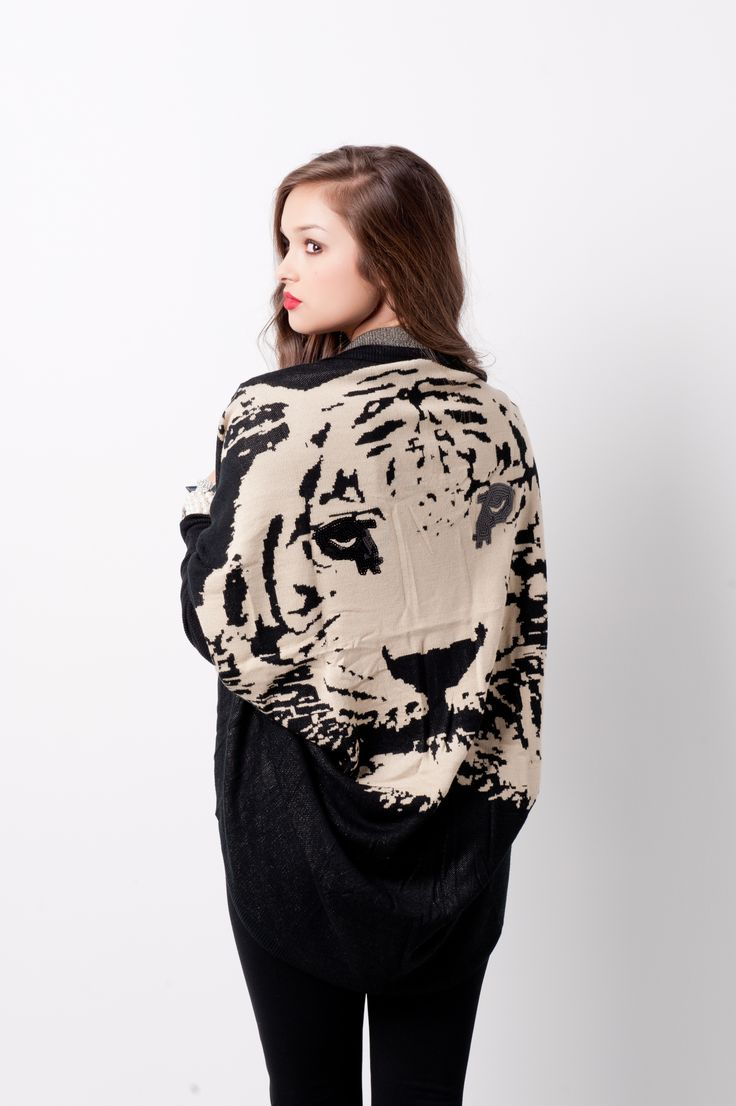Tiger Back Kimono Cardi #swoonboutique