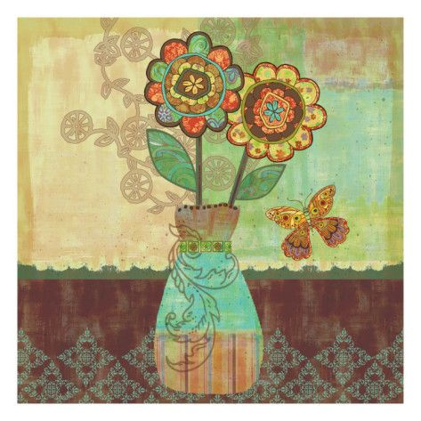 Bohemian Floral II Prints by Wendy Bentley at AllPosters.com