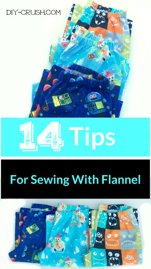 These 14 tips for sewing with flannel will help you master this amazing and warm material. Imagine all the cozy things you could sew!