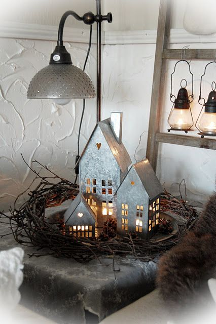 Not anything I could DIY....these look like they are galvanized tin....but they sure are cute...maybe an inspiration for a handy someone....