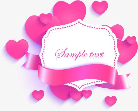 Vector de Amor cor - de - Rosa FITA decoração etiqueta, Tags, Cor - De - Rosa, O AmorPNG e Vector