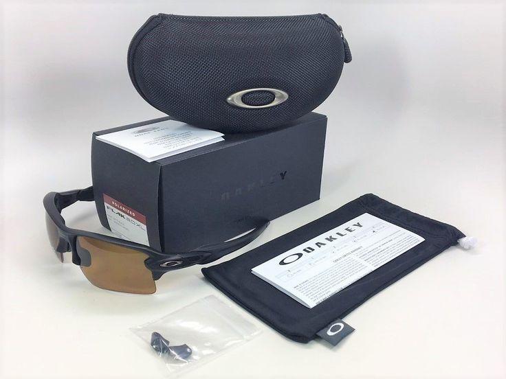 Oakley Flak Jacket 2.0 XL OO9188-07 Matte Black / Bronze Polarized Sunglasses