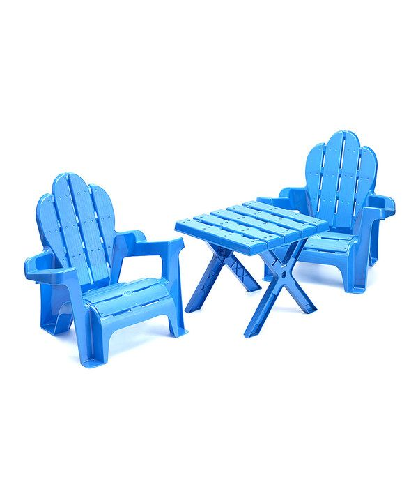 Look at this Blue Adirondack Furniture Set on #zulily today!