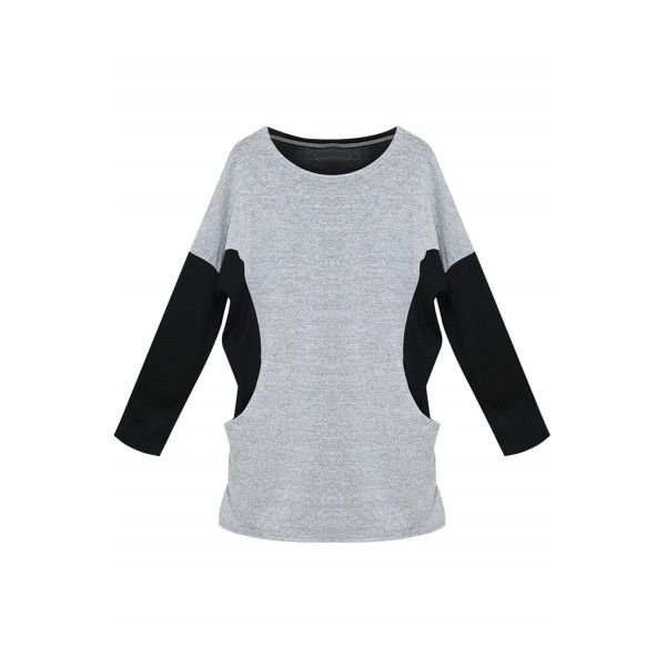 Women's Casual Color Block Batwing Sleeve Knitted Mini Dress ($22) ❤ liked on Polyvore featuring dresses, white, short white dresses, short mini dress, long sleeve color block dress, colorblock dress and long sleeve colorblock dress