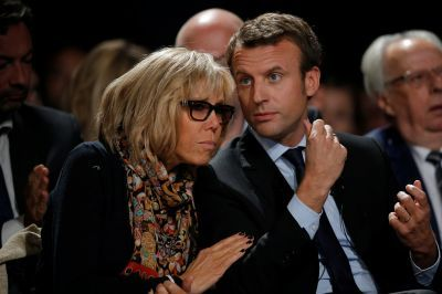 4/22/17 Who is Brigitte Trogneux? The curious love life of France's presidential favourite Emmanuel Macron  Victory would see wife Brigitte become First Lady, decades after she taught Emmanuel at school.