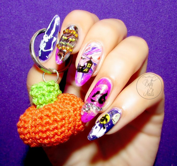 Betty Nails: Haunted Halloween Night Nails #3 [Video-How to]