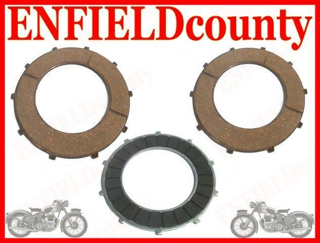 3 PIECE FRICTION PLATE KIT 141992 FOR ROYAL ENFIELD