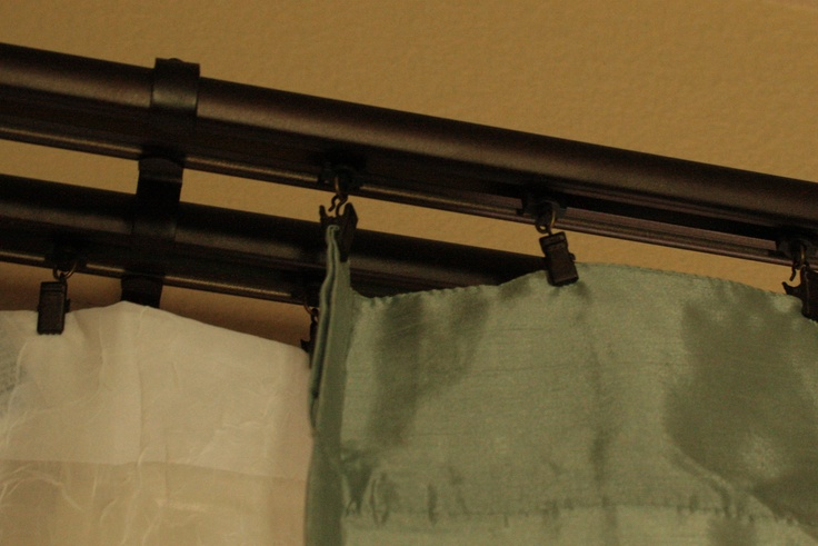 78 Best Ideas About Double Curtain Rods On Pinterest Double Curtain Rod Set Ikea Curtains And