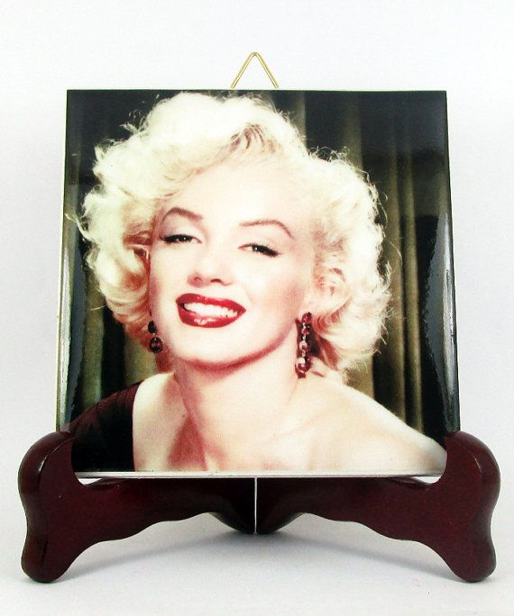 Marilyn Monroe Ceramic Tile / Coaster / Magnet  by TerryTiles2014