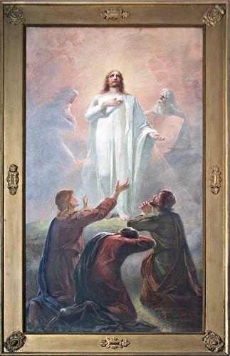 Christ, decoloration / Kristi förklaring ,1898, Alexandra Frosterus-Såltin (Finnish 1837–1916)