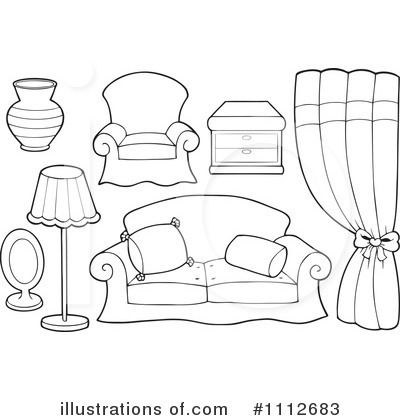 18++ Living room clipart black and white ideas