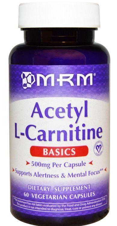 Acetyl L-Carnitine 500 mg 60 Veggie Caps Amino Acid Energy Mental Focus Health…