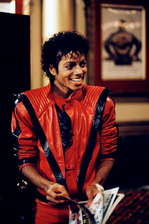 Michael Jackson photographed by Douglas Kirkland during the filming of Thriller, 1983  KING.