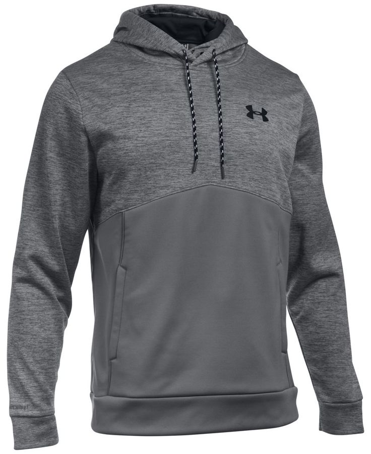 Get sleek everyday style and performance comfort in this Under Armour hoodie, featuring water-repellent Storm technology plus cozy Armour Fleece. | Polyester | Machine washable | Imported | Fuller cut