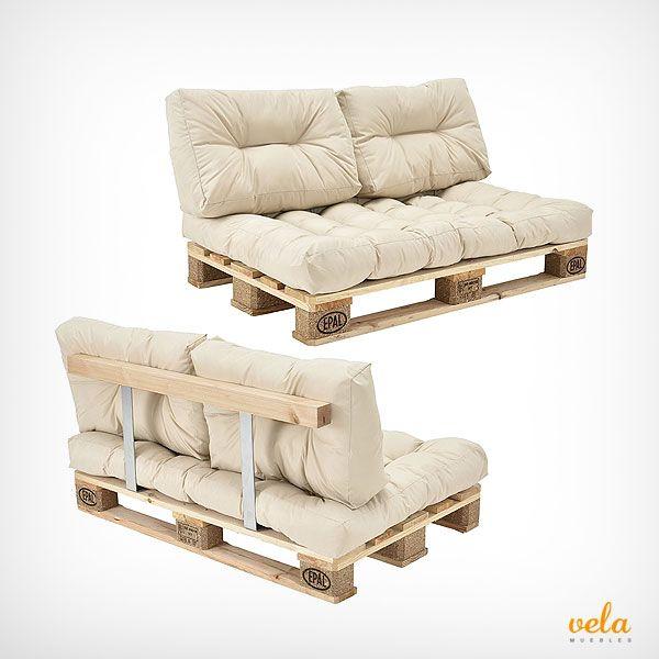 Sofas De Palets De Madera Para Exterior Terrazas Muebles Baratos Muebles Con Palet Muebles Con Estibas