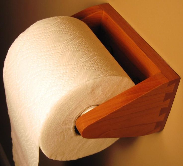 Wooden Toilet Paper Holder