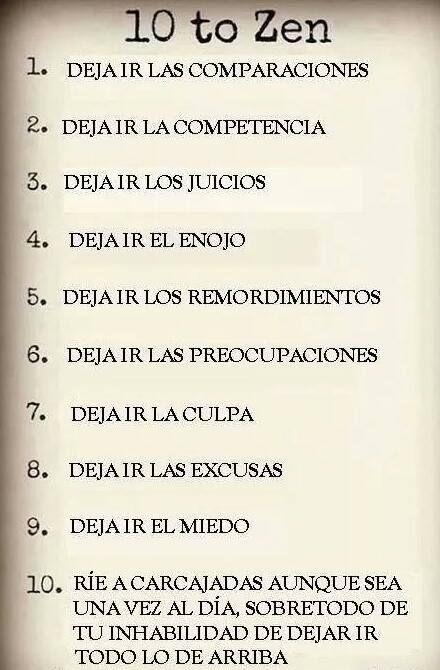 10 reglas para tener una vida #zen