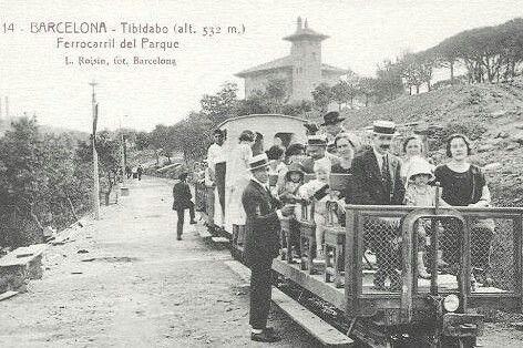 Ferrocarril del Parc del Tibidabo.1920