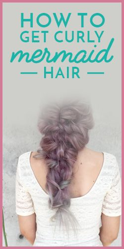 Curly mermaid hair   HOW TO,  WOW!