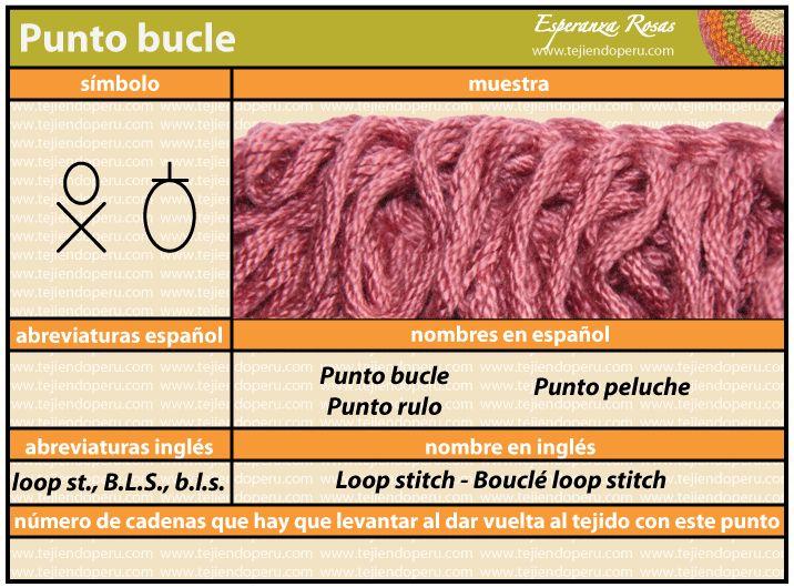 (Crochet) Punto buckle - Loop stitch - Bouclé loop stitch