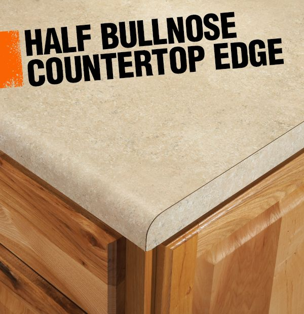 A Half Bullnose Or Demi Bullnose Countertop Edge Has A