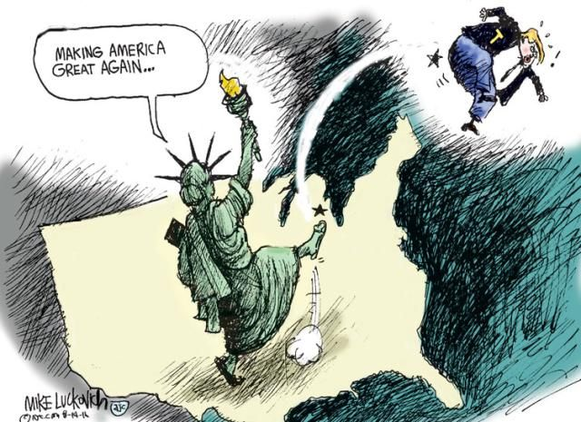 Best Donald Trump Cartoons of 2016: Making America Great Again