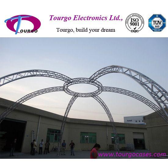 Arc aluminum truss system for event