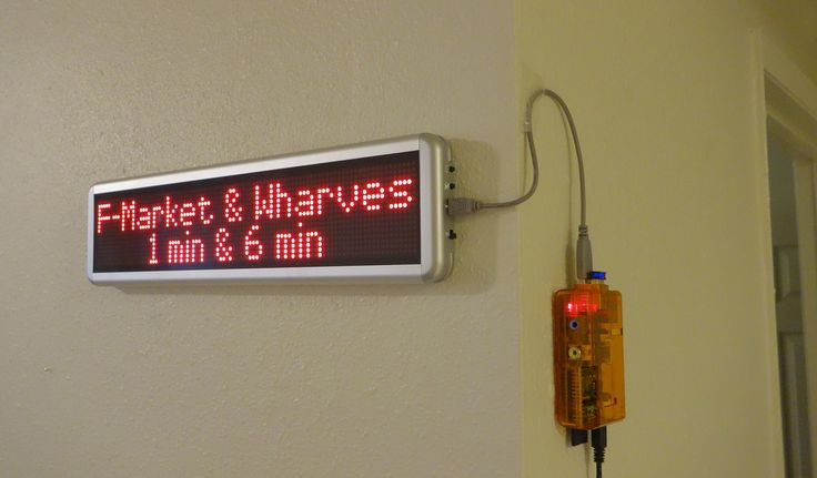 SF Muni LED Sign at Home with Raspberry Pi - post in A Foo walks into a Bar... - blog by Pavel Shved - coldattic.info
