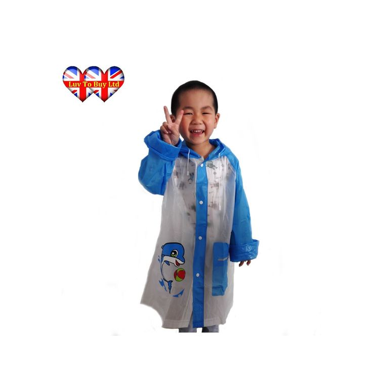 Child's Raincoat, Unisex Raincoats, Blue Raincoat, Pink Raincoat (L, Blue). Same or next day dispatch for all orders! Sadly we cannot change the Amazon delivery setting however ALL ORDERS ARE DELIVERED WITHIN 4-8 DAYS. This Super Adorable Raincoat will keep your little one dry and They'll Love Wearing It!. Buttons Up at The Front, Tie Strings and Hood For Extra Protection. Pocket Located at The Front. Three Different Sizes!. Two Cute Design's To Choose From Everyone Will Love!.