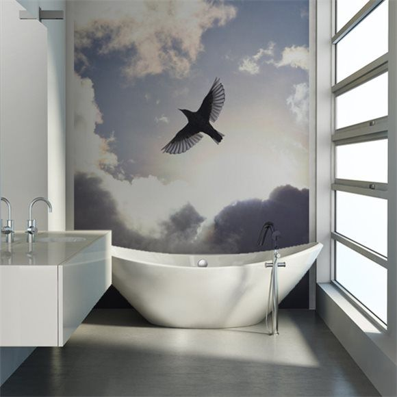 Rebel Walls foto behang interiors wallpaper behang woonkamer behang slaapkamer #trendy #interieurtrends free-as-a-bird