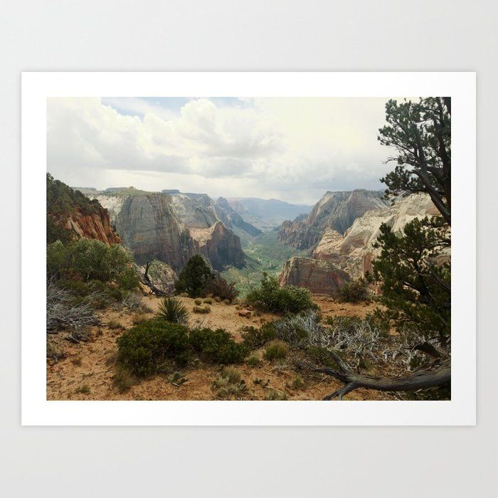 Places To Live Near Zion National Park: Above Zion Canyon Art Print
