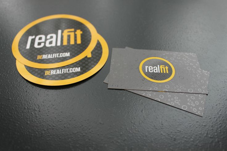 Premium Offset Stickers And 16pt Spot Uv Business Cards For Realfit In Victoria Bc