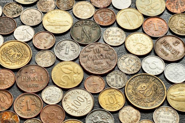Markkoja vuosien varrelta - raha rahat rahaa rahoja kolikko kolikot kolikoita markka markat markkoja hopeamarkka kultamarkka penni pennit p...