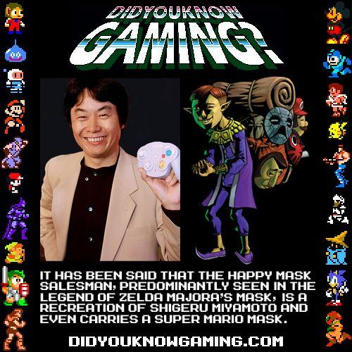 Shigeru Miyamoto as the Mask Salesman? I see it, but I think the Mask Salesman is a creeper.