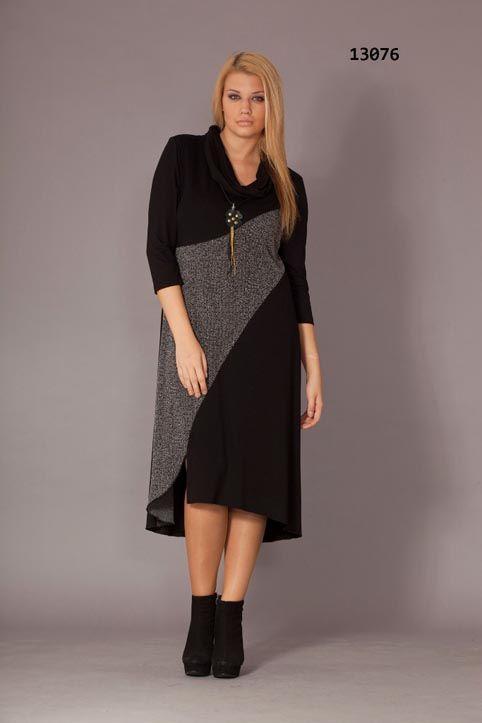 фото стильные платья для полных зима осень может продумать