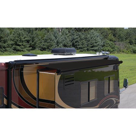 Carefree RV Slideout Awning Replacement Fabric - 117 inch Canopy Length, Black
