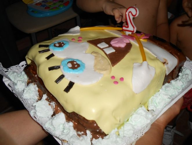 Deliciosa tarta casera de Bob Esponja. Cumpleaños submarino. Submarine Birthday Party - Inma Torrijos' mum