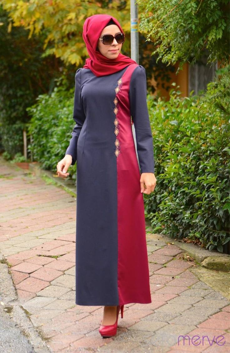 Aramiss Tesettür Elbise 7044-04 Lacivert