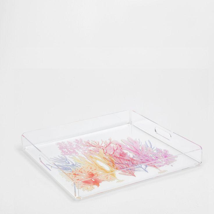 Plateau méthacrylate coraux - Plateaux - Table | Zara Home France