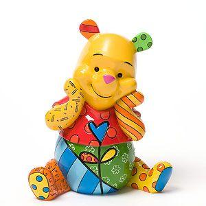 Winnie The Pooh - Perplexed Pooh - Britto - Romero Britto - World-Wide-Art.com - $70.00