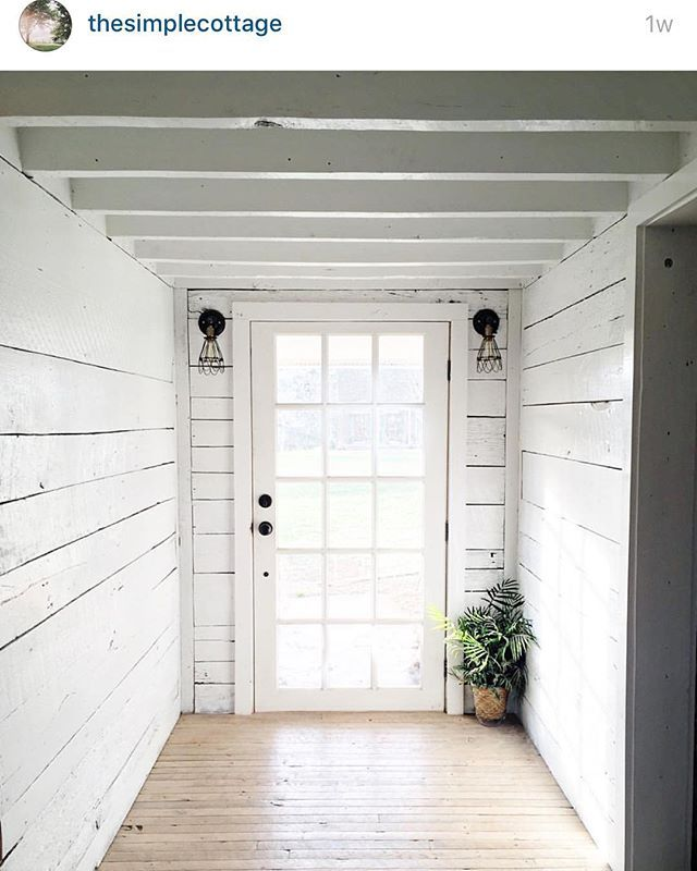 I love @thesimplecottage floors.... They are perfectly whitewashed. Hoping my kitchen floors will turn out the same way. The door is from Home Depot. #styled2inspire #onetofollow