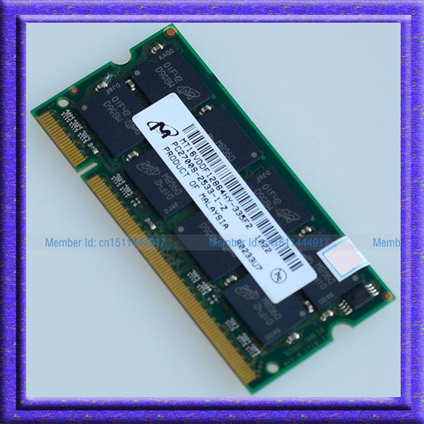 Micron ddr1 1GB PC2700 DDR333 200PIN SODIMM Laptop MEMORY 1G 200-pin SO-DIMM RAM DDR Laptop Notebook MEMORY Free Shipping