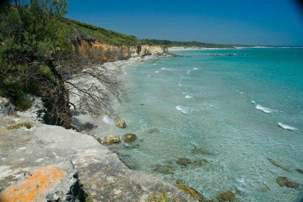 Puglia: Spiaggia di Baia dei Turchi, Otranto