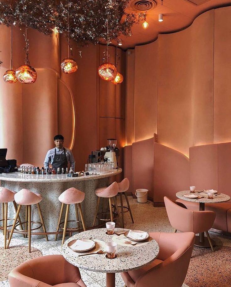 Rose café interior | 中式 in 2019 | Restaurant deko, Coffee ...