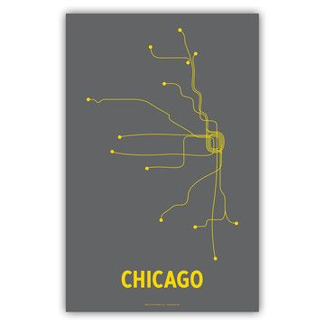 want want want want $14: Chicago El, Chicago Linepost, Favorite Places, Chicago Transitional, Graphics Design, Grey Yellow, Prints Gray, Chicago Digital, Digital Prints