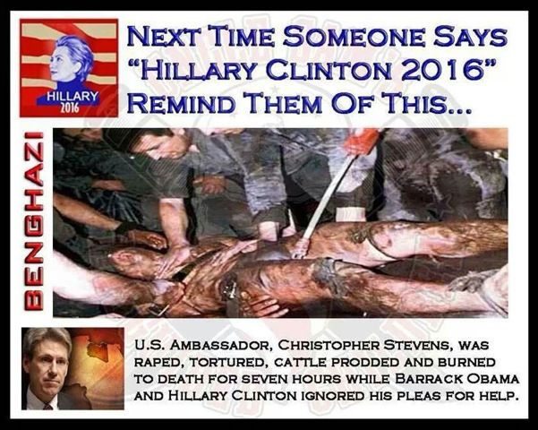 Hillary Clintoninsists that if anyone is lying about the aftermath of the 2012 Benghazi Islamic terror attacks that left four Americans dead, it's 'not me,that's all I can tell …