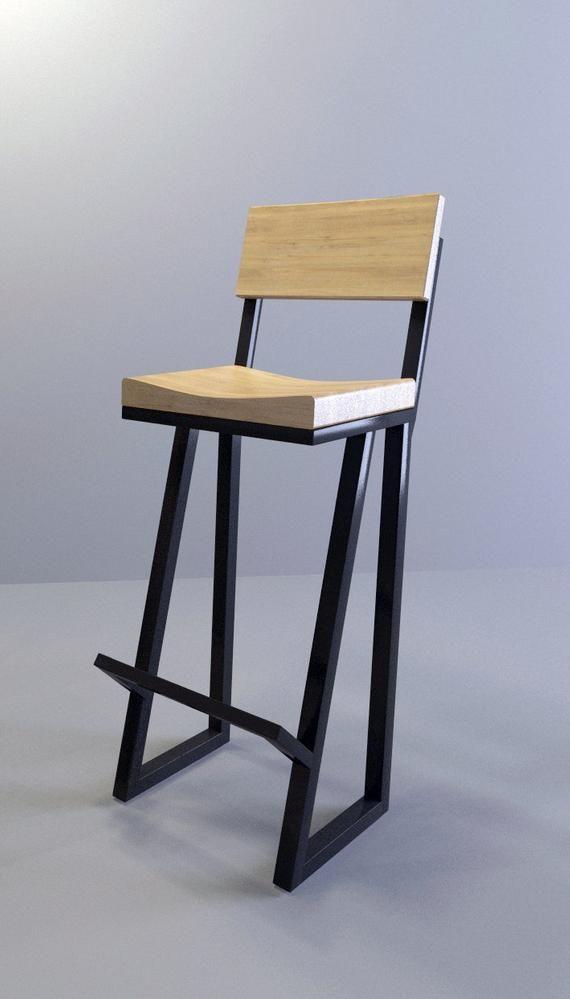 Metal Wood Bar Stool 36 Stool Barstool Chair Metal Stool