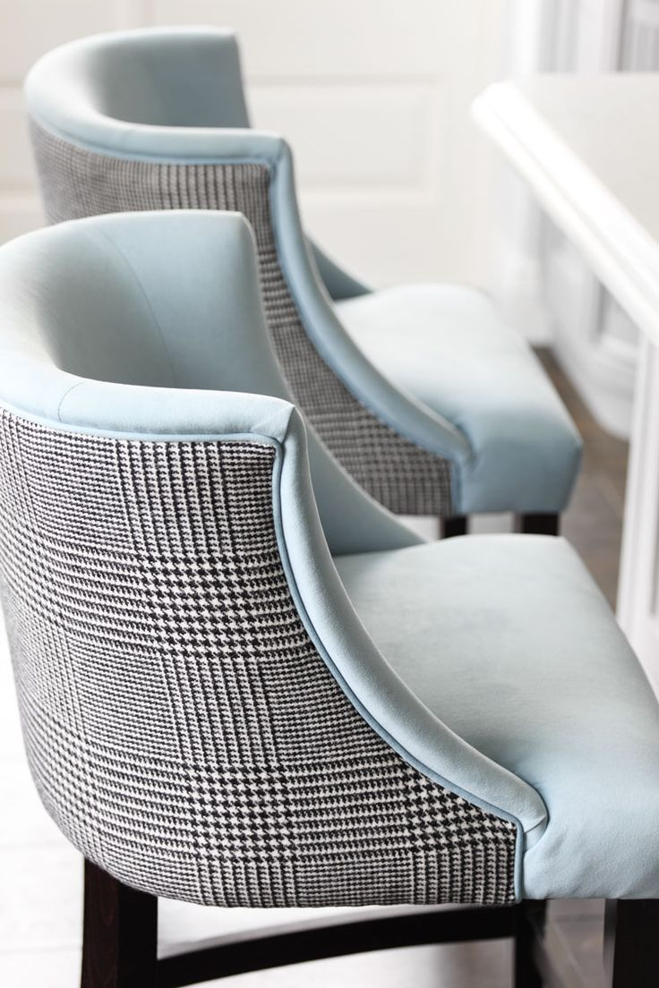 Ralph Lauren Houndstooth backed stools