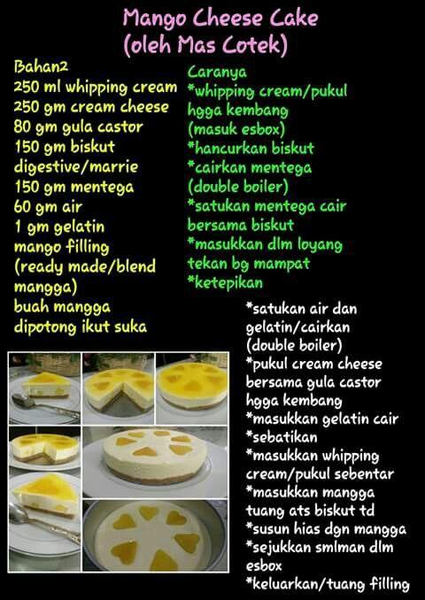 recipe: resepi kek mango cheese leleh [7]